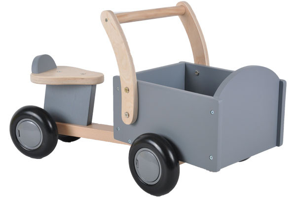 Houten bakfiets little rider grey